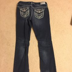 """Maurice's premium jeans Maurice's premium denim, good condition. There a couple of small jewels on rear pockets that are missing but you really have to study the pants to see them. 7/8 regular. Measures at 32"""" inseam. They are a slim bootcut Maurices Jeans Boot Cut"""