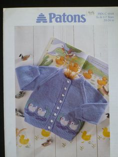 Patons Child's Cardigan pattern 903 by CarolsCreations77 on Etsy, $2.00