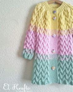 Вот такая она, конфетка 🍭 Tatlı bir kız için 🍭 Sweetie for a sweetie Crochet Baby Jacket, Baby Sweater Knitting Pattern, Knit Vest Pattern, Crochet Cardigan, Crochet Yarn, Baby Knitting, Pullover Design, Sweater Design, Knitted Coat