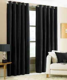 TWO HEAVY THICK panels FOAM BLACKOUT BLACK grommet window curtain LINED k92