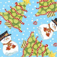 Jolly Holiday Fabric by Jennifer Heynen   .Fat Quarter. by Jangles, $2.50