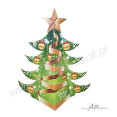 Opakowanie świąteczne na słodycze w kształcie choinki z Twoim logo #słodycze #święta
