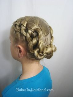 Chunky Knot Updo from BabesInHairland