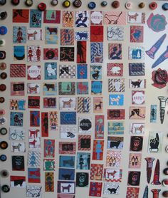 silkscreen and buttons magnets