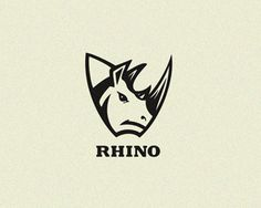 Rhino Logo design Sample made by LogoPeople Australia  #logo #logodesign #logodesigninspration