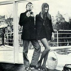 Jane Birkin with Serge Gainsbourg
