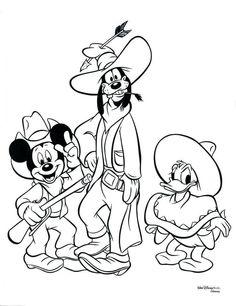 Mickey, Pateta e Donald for coloring :)