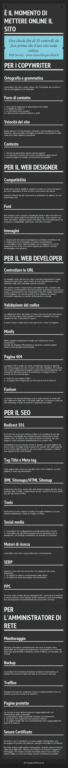 25 controlli prima di mettere online un nuovo sito @Seo Roma