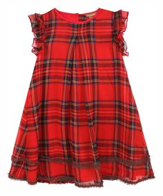 Look at this ilovegorgeous Red Plaid Good Cheer Dress - Toddler & Girls on today! Toddler Girl Dresses, Little Girl Dresses, Girls Dresses, Toddler Girls, Red Fashion, Fashion Outfits, Fasion, Girly Outfits, Kids Outfits