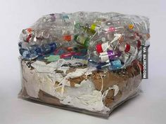 funny sofa made with waste plastic materials 32 Photos Of Unusual Furniture