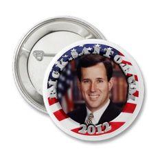 Rick Santorum 2012 Button