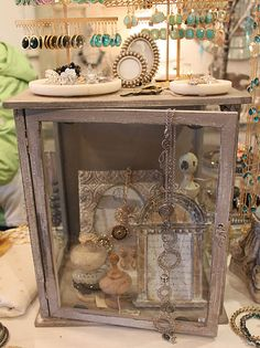 love the vintage display cases