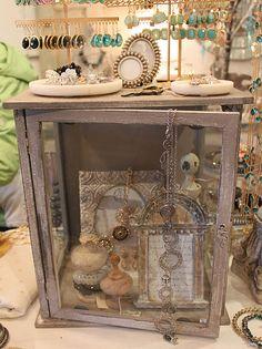 love the vintage display cases