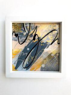 """Ochre"" Diptych Original Art Technique: Acrylic below a sheet of acrylic Dimensions: x x 3 cm New Media Art, Mixed Media Art, Abstract Expressionism, Abstract Art, Cursive, Art Techniques, Art Studios, Graphic Art, Original Art"