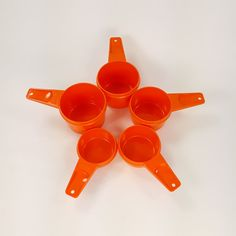 Your place to buy and sell all things handmade Vintage Tupperware, Mad Men, Measuring Cups, Mid-century Modern, Kitchen Decor, 1960s, Mid Century, Orange, Retro