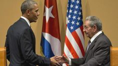 US President Barack Obama and Cuba's President Raul Castro shake hands after a joint statement in Havana, Cuba, Monday, March 21, 2016. Brushing past differences, President Obama and President Castro sat down for a historic meeting, offering critical clues about whether Obama's sharp U-turn in policy will be fully reciprocated.(AP Photo/Ramon Espinosa)