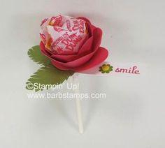 Stampin' Up! Spiral flower dum-dum strawberry1