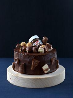 Birthday Cake For Him, Nutella, Mousse, Food, Caramel, Essen, Meals, Yemek, Eten