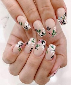 May 2020 - spring nails, spring nail trends, spring nail art , spring nail ideas mismatched nail colors Cute Acrylic Nails, Cute Nails, Pretty Nails, My Nails, Dark Nails, Uv Gel Nails, Spring Nail Trends, Spring Nail Art, Cute Spring Nails