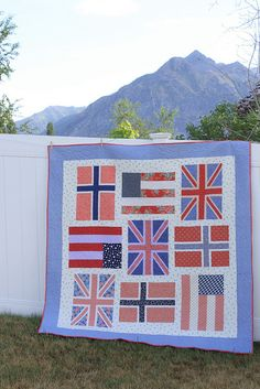 @Sarah Whitmore how cute would this be minus the upside down us flag and the Norway ones?
