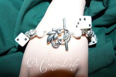 This is a fun dice bracelet Dice, Heart Charm, Charmed, Bracelets, Fun, Blog, Jewelry, Charm Bracelets, Fin Fun