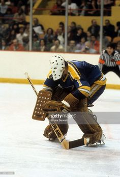 goalie-mike-liut-of-the-st-louis-blues-makes-the-stick-save-during-an-picture-id502195888 (694×1024) Hockey Goalie, Hockey Players, Hockey Rules, Goalie Mask, St Louis Blues, The St, Long Live, Nhl, Old School