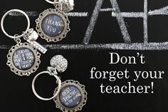 Teacher Gifts - Chalkboard Key Chains 45% OFF
