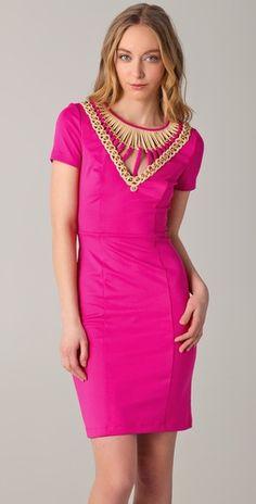 pink & awesome beaded bib