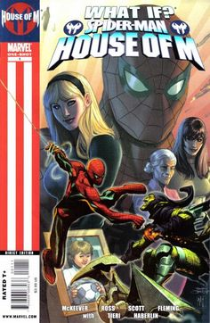 Spider-Man: House of M What if Gwen Stacy survived the House of M? What if Gwen and Richie Parker returned with Peter after House of M? Find out here in these two world-changing WHAT IF? Marvel Villains, Marvel Characters, Marvel Comic Books, Marvel Comics, World War Hulk, House Of M, Alexandria Egypt, Marvel Series, Marvel Entertainment