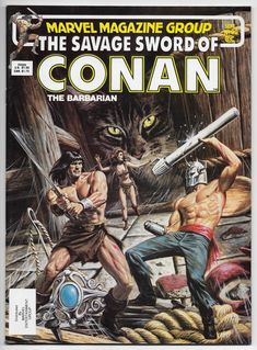 Savage Sword Of Conan Magazine John Buscema (Marvel, VF+ Book Cover Art, Comic Book Covers, Comic Books Art, Comic Art, Conan Comics, Marvel Comics, Caricature, Cyberpunk, Conan O Barbaro