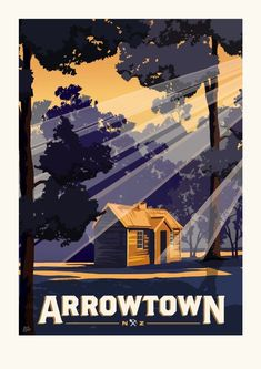 Arrowtown Travel Poster on Behance Poster On, Poster Prints, Poster Ideas, Arrowtown New Zealand, Horse Coat Colors, Vintage Travel Posters, Retro Posters, Art Icon, Photo Reference