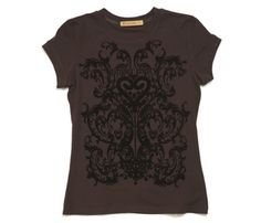 FLOCKED TEE Item code:3384527 Price:R 240.00 Colour:browns:chocolate-other(palette)