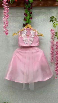 Pink Dress, Flower Girl Dresses, Kids Party Wear, Long Dress Design, Designer Kids, Cut Work, Cute Girl Outfits, Girl Online, Girls Wear