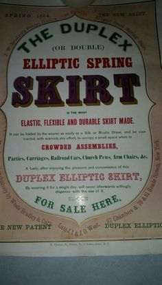 ELLIPTIC SPRING SKIRT POSTER BY WESTS BRADLEY & CARY