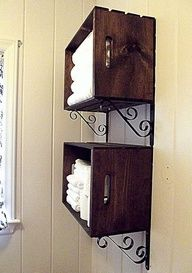 inexpensive crates and wrought iron #Recipes
