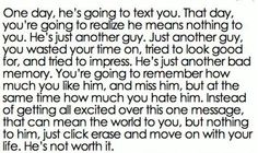 Remember your worth and walk on.  Don't give him a 2nd chance he doesn't deserve.