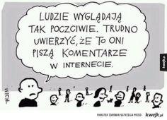 Hejterzy Jokes, Humor, Comics, Funny, Life, Cheer, Ha Ha, Comic Books, Comic Book