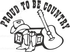 Country & Western sticker - decal