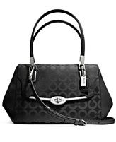 COACH MADISON SMALL MADELINE EAST/WEST SATCHEL IN OP ART SATEEN FABRIC