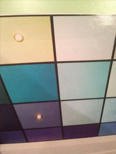 Painted drop ceiling how it would look with different colors