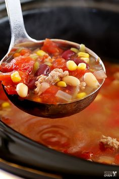 Skinny Slow Cooker Taco Soup 8