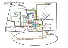 Official Map: Bus System of Meiningen, Germany, 2013