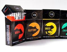 """Popatrz na ten projekt w @Behance: """"The Seven Deadly Sins: Cigarettes"""" https://www.behance.net/gallery/10392231/The-Seven-Deadly-Sins-Cigarettes"""