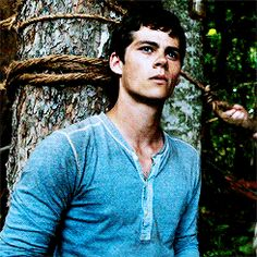 Pin for Later: 18 Times You Wanted to Run Away With the A-Maze-ing Dylan O'Brien When He's Standing Against This Tree Biting His Lip Can't even deal.