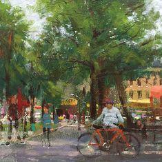 Joseph Gyurcsak, Bushwick, acrylic, 12 x - Southwest Art Magazine Large Scale Art, Acrylic Painting Techniques, Southwest Art, Western Art, Magazine Art, New Artists, Beautiful Paintings, Urban Art, Impressionist