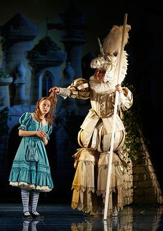 Russian production of Through the Looking Glass - Alice and the White Knight