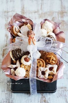 Christmas Sweets, Christmas Baking, Cooking Cookies, Polish Recipes, Polish Food, Cookie Bars, Cake Cookies, Baked Goods, Cookie Recipes