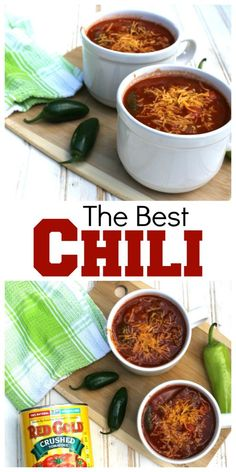 The Best Chili Recipe ever #helpcrushhunger #AD Beer Recipes, Chili Recipes, Great Recipes, Soup Recipes, Favorite Recipes, Best Chili Recipe Ever, Chili Cook Off, Delicious Dinner Recipes, Delicious Dishes