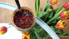 Punainen Orvokki: Reseptit: Suklaa Chia Vanukas (vege, ei lisättyä s... Desserts, Food, Tailgate Desserts, Deserts, Essen, Postres, Meals, Dessert, Yemek