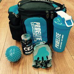 blue gym accessories